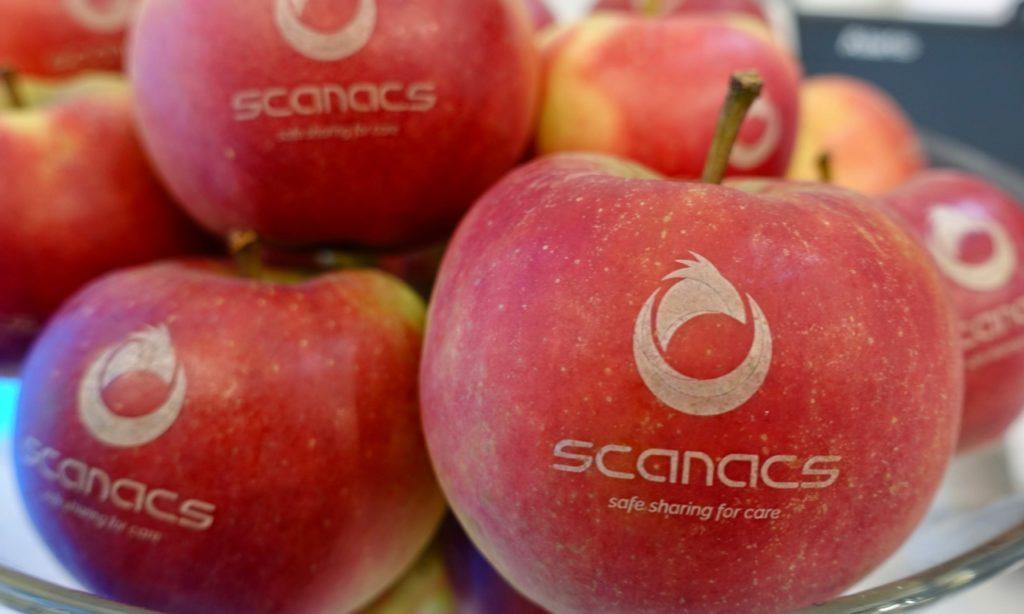 scanacs-Äpfel, die gesunde Alternative für unsere Messebesucher.